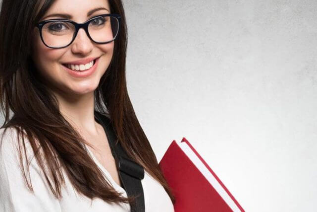 School Girl Happy Glasses 1280x480 640x427