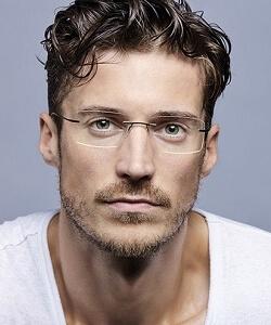 Model wearing Fendi eyeglasses