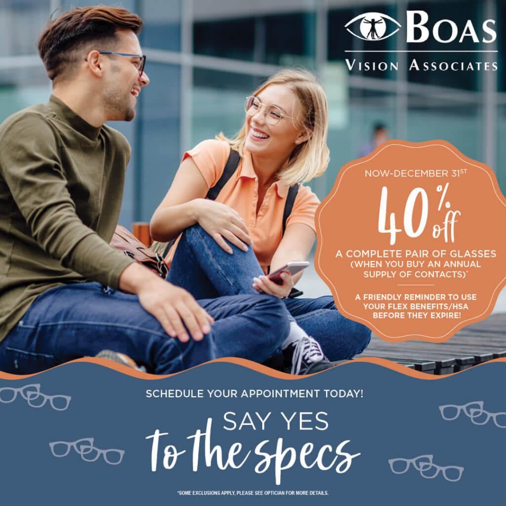 Boas Q4 SayYesToTheSpecs socialpost