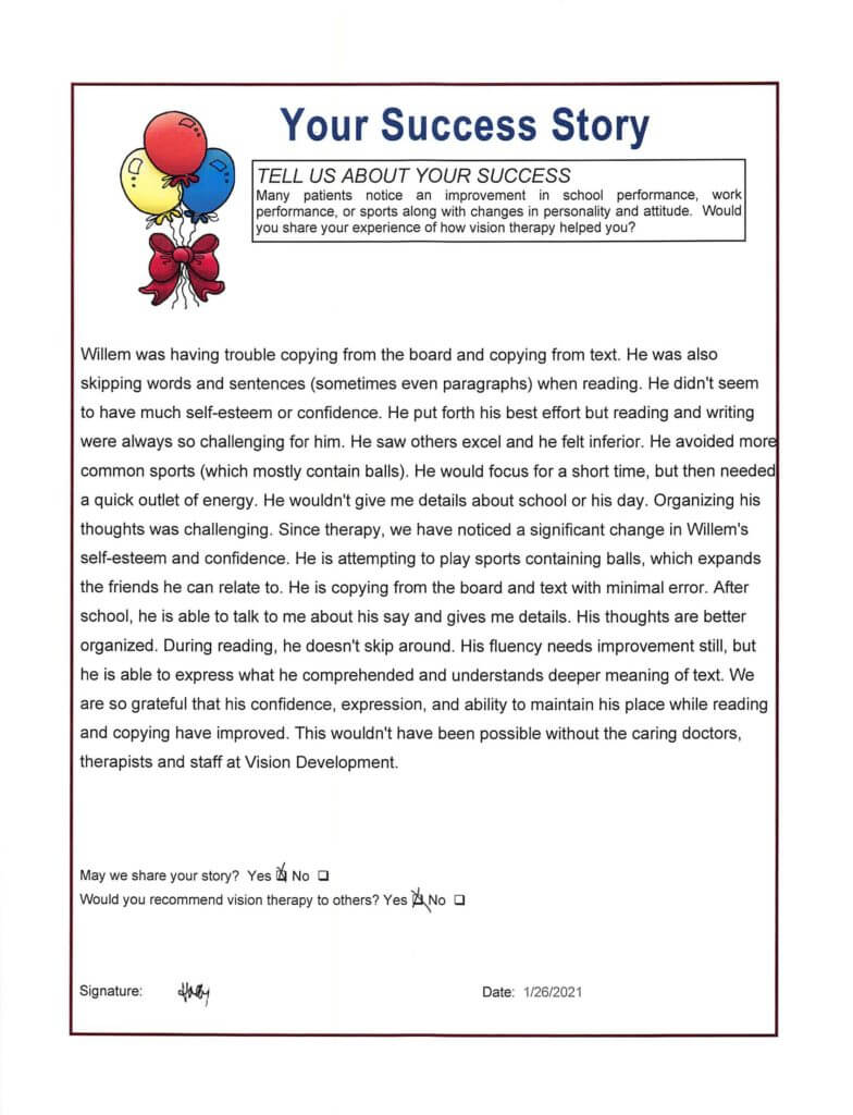 Willems Success Story 1