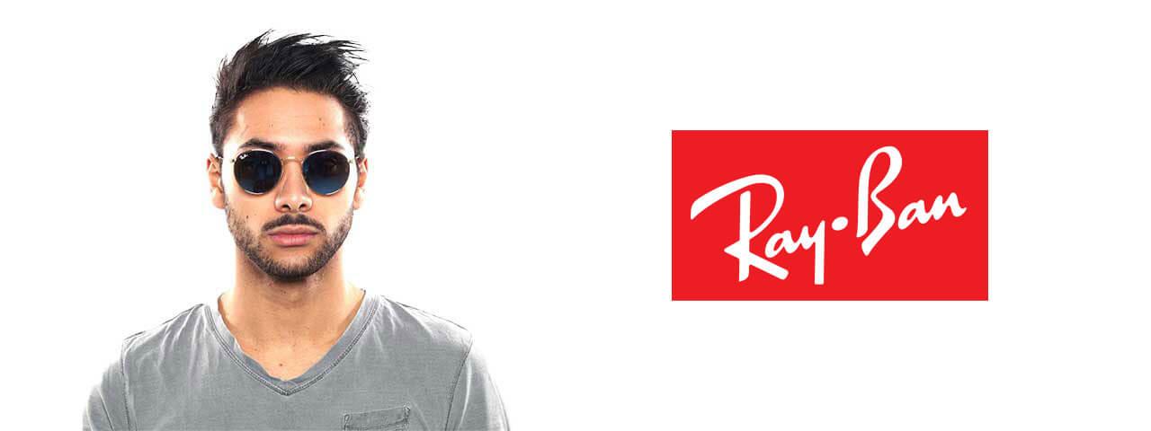 Man Wearing Ray-Ban Designer Eyeglass Frames