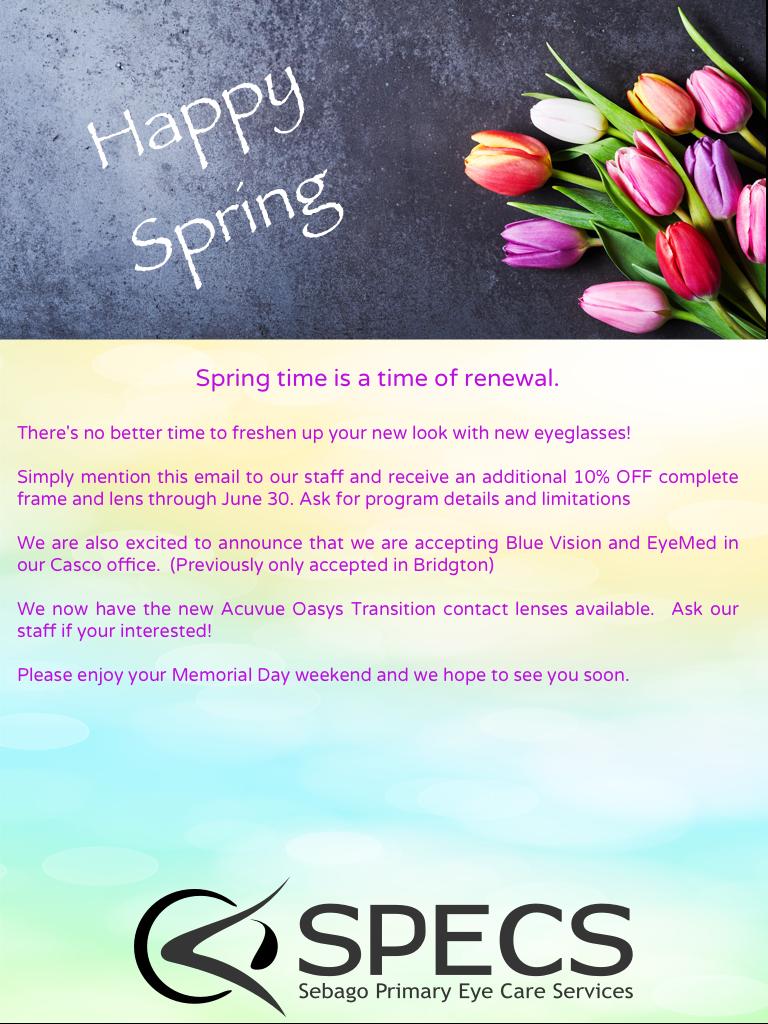 spring newsletter 1