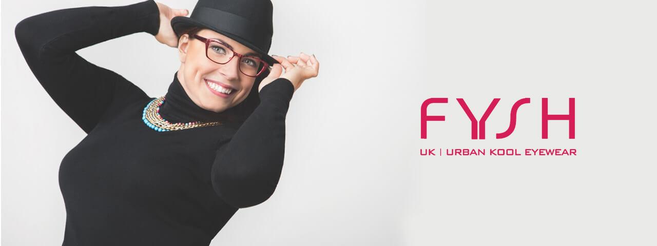 Woman Wearing Fysh Designer Eyeglass Frames