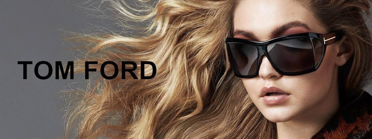Model wearing Tom Ford Sunglass