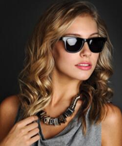 Model wearing SCOTT HARRIS sunglasses