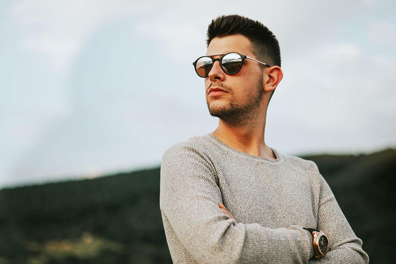 hero man glasses sky white jacket 1280