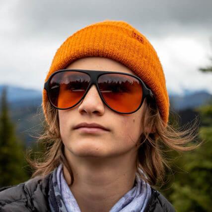 man wearing designer sunglasses in Auburn, California