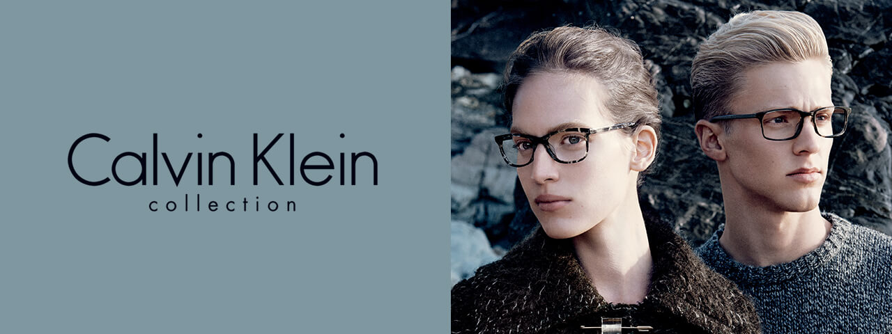 ouple Wearing Calvin Klein Designer Eyeglass Frames