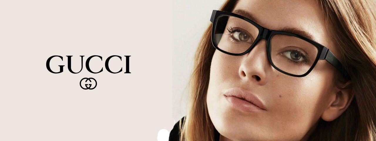 Woman Wearing Gucci Designer Eyeglass Frames
