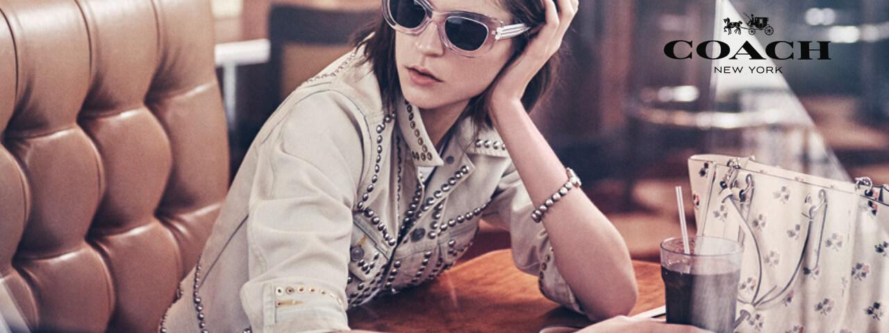 Woman Wearing Coach Designer Eyeglass Frames