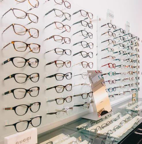 EYEQ wall of eyeglasses