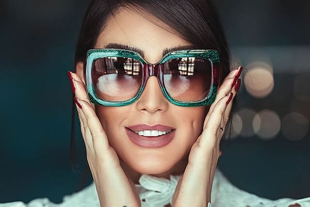 green frames fashion sunglasses1