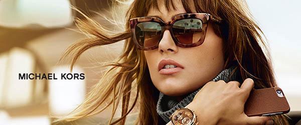 Woman Wearing Michael Kors Designer Eyeglass Frames