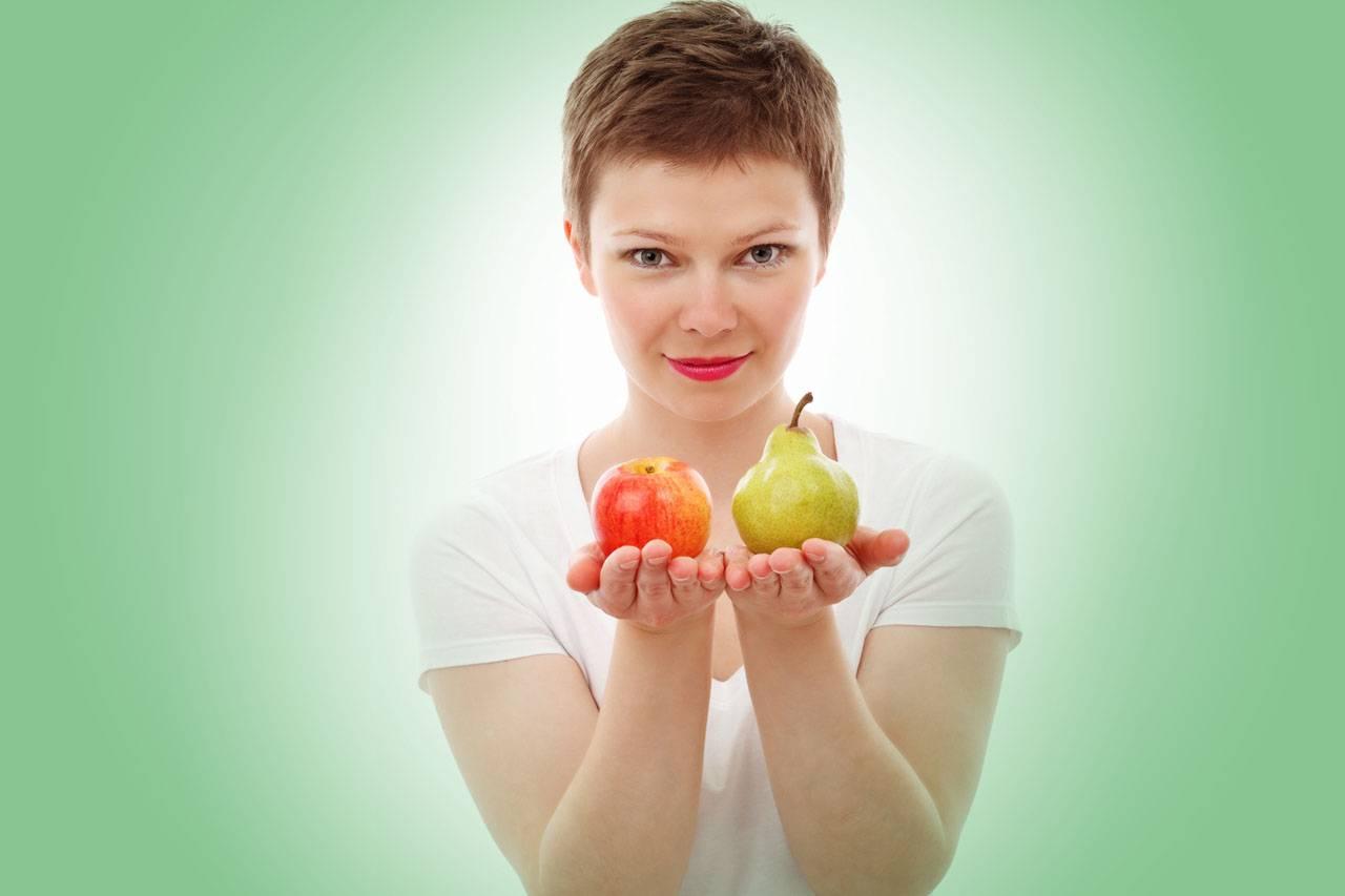 nutrition american woman pear apple green 1280×853
