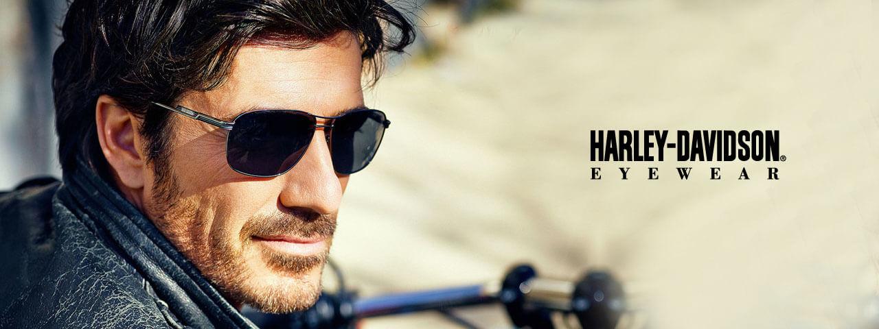 Man Wearing Harley Davidson Designer Eyeglass Frames