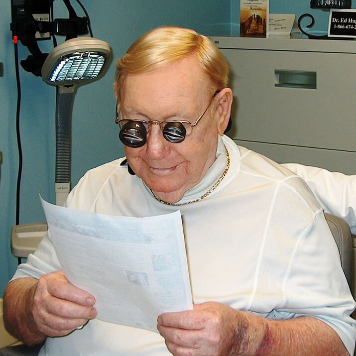 low vision patient reading home