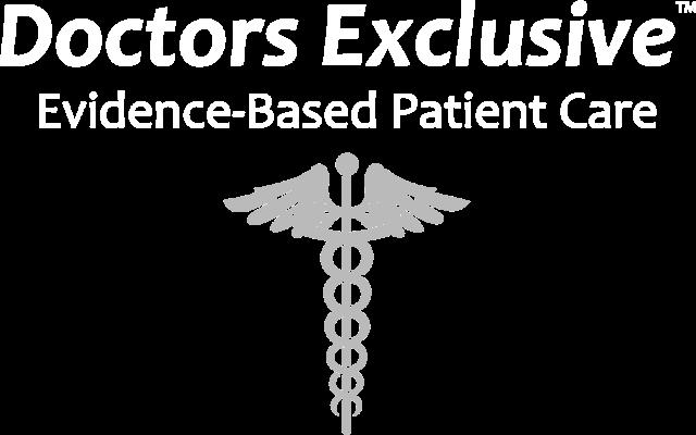 doctors exclusive logo inverted