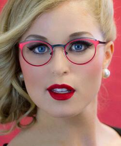 Woman wearing Juicy Couture Eyewear