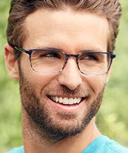 Man wearing Dutz Eyewear