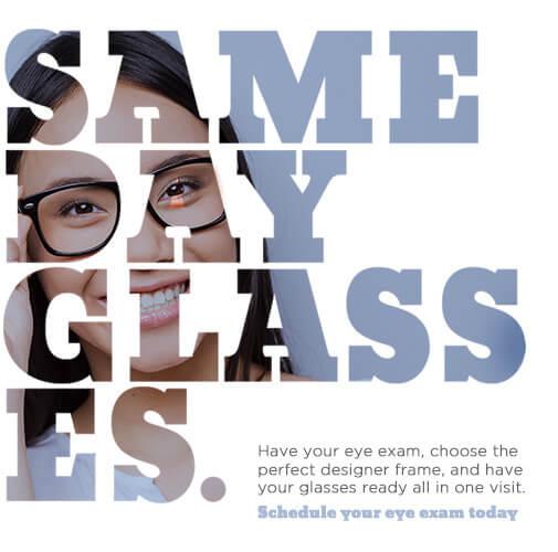Same Day Glasses graphic