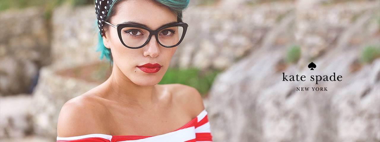 Woman Wearing Kate Spade Designer Eyeglass Frames