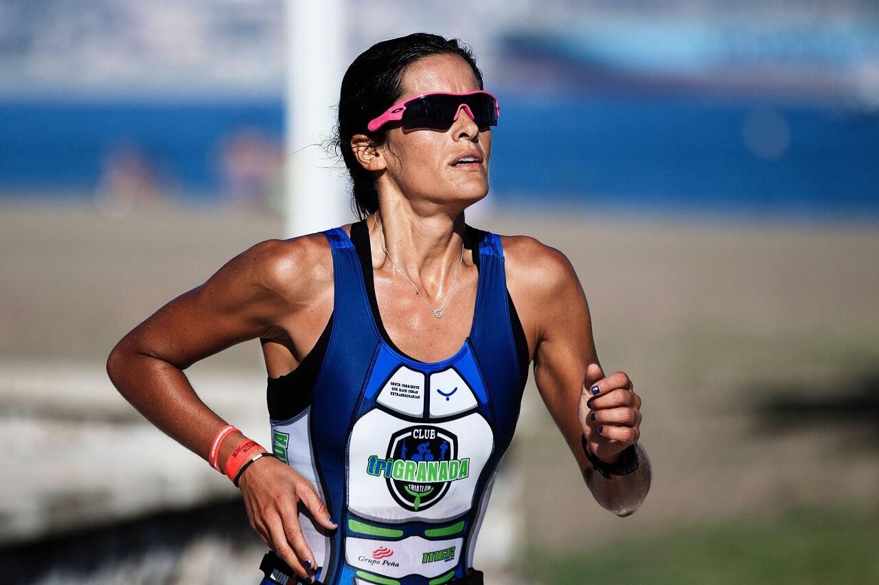 woman running sunglasses