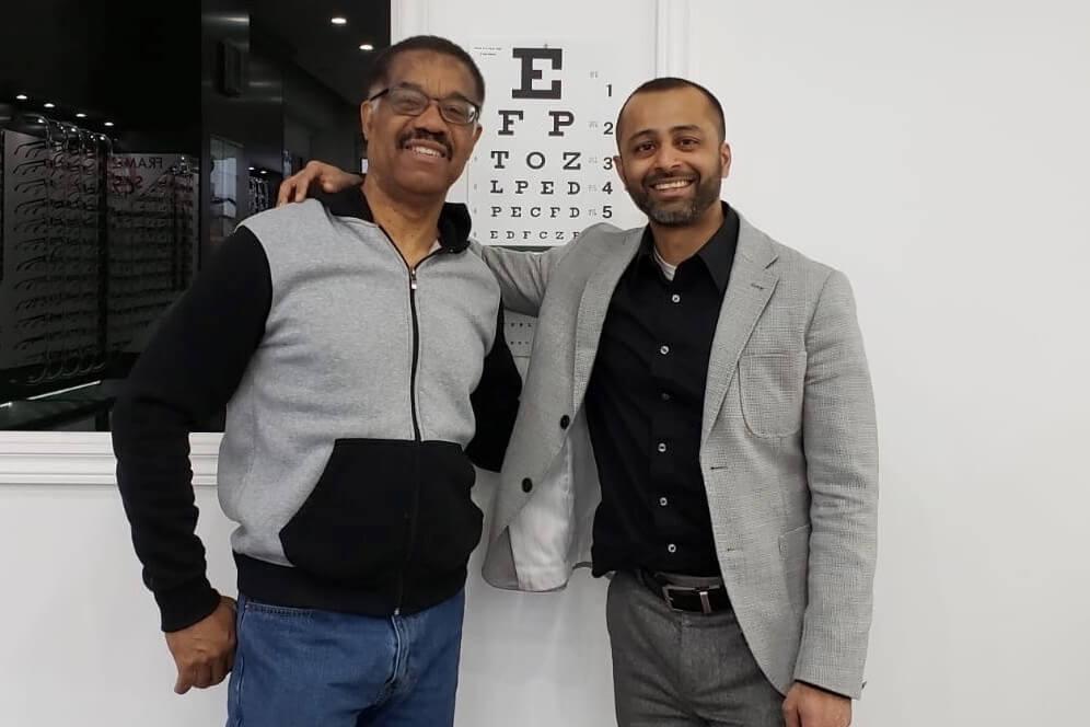 optometrist patient