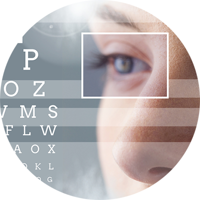 woman with eye focus