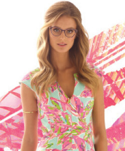 blonde girl in Lilly Pulitzer