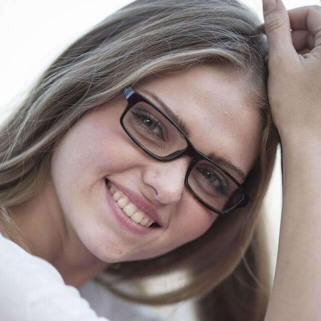 Girl wearing eyeglasses in Austin