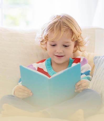CARDS CROP 1off Myopia Child Book Reader