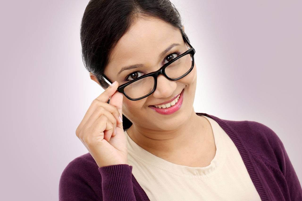 glasses reading lady hispanic
