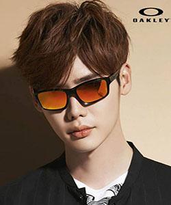 Model wearing Oakley sunglasses