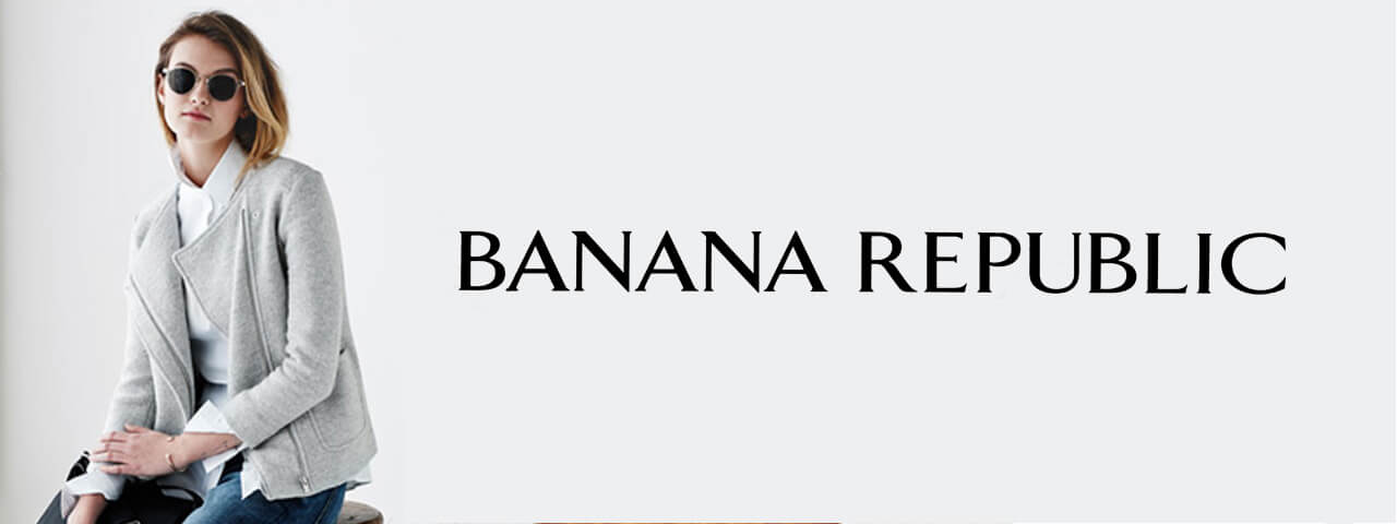 Woman Wearing Banana Republic Designer Eyeglass Frames