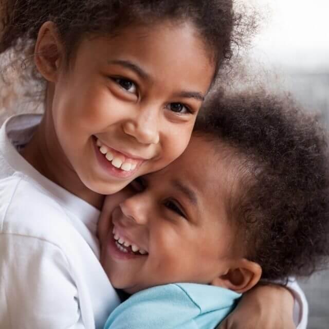 2 kids before peditric eye exam in Boise