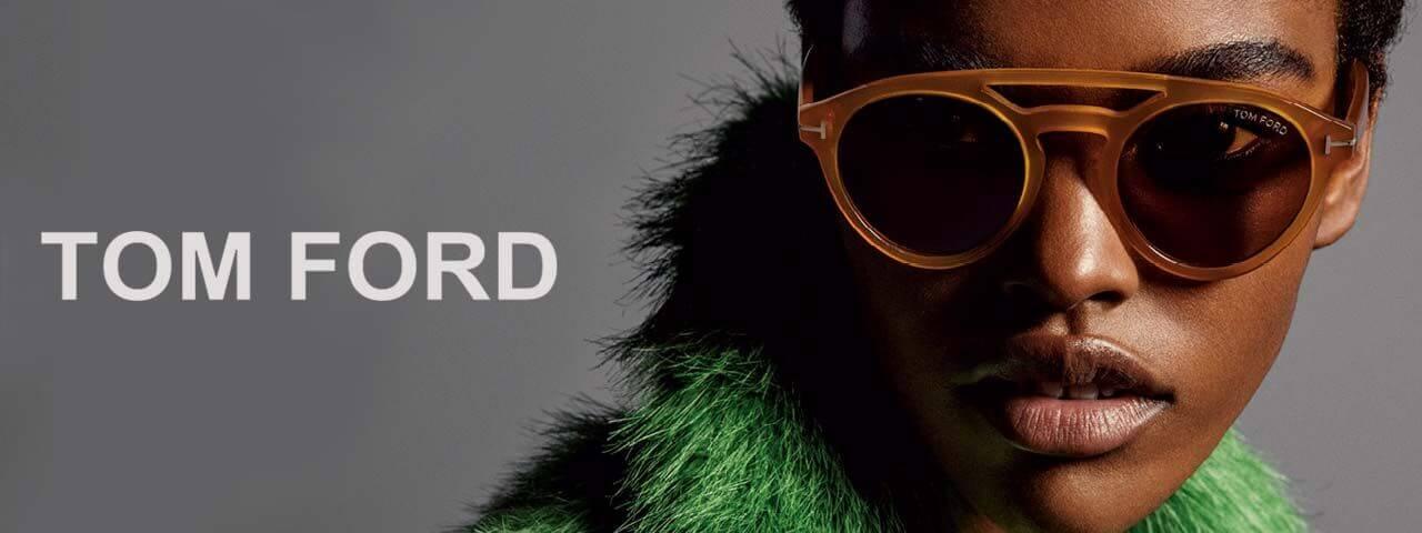 Woman Wearing Tom Ford Designer Eyeglass Frames