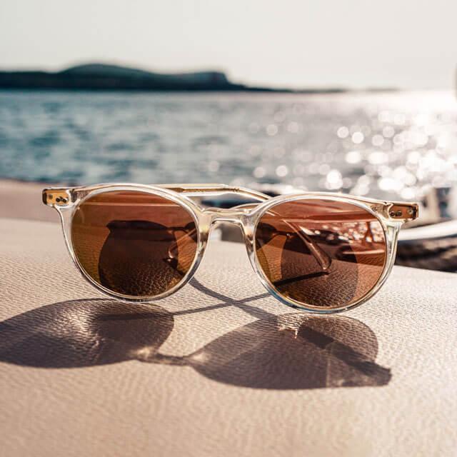 woman wearing designer sunglasses in Brooklyn, New York