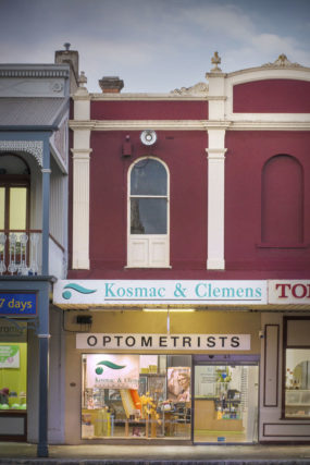 Exterior of Kosmac and Clemens Optometrists Castlemaine