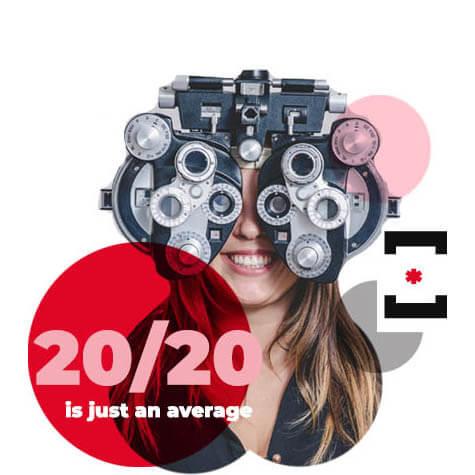 Girl Eye Exam Red Dots Sm 1