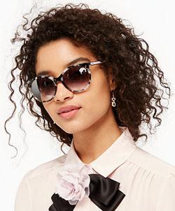 Model wearing Kate Spade sunglasses