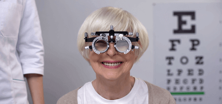 A child during an eye test