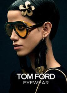 Model wearing sunglasses