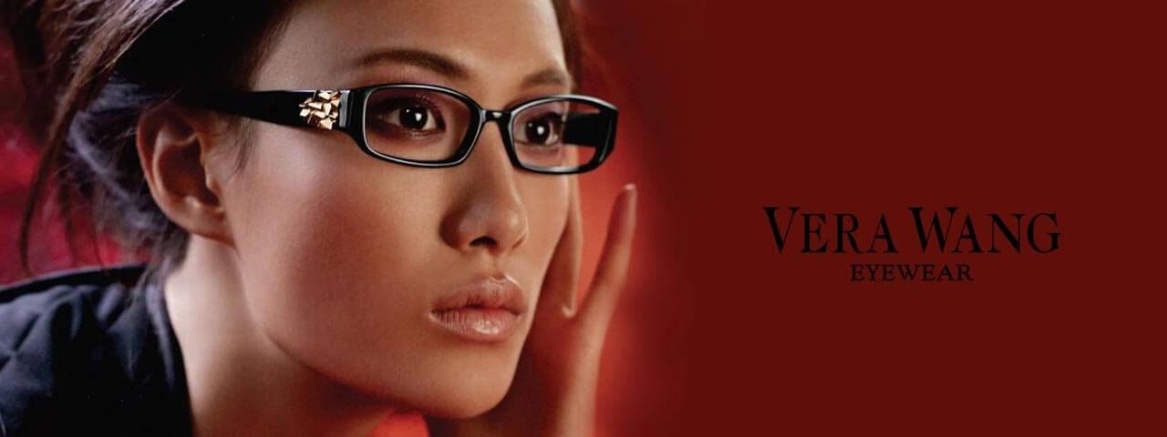 Model Wearing Vera Wang Designer Eyeglass Frames