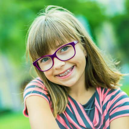 Myopia young girl 1