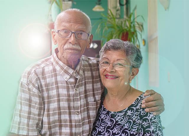 ocular diseases management - elderly couple wearing eyeglasses