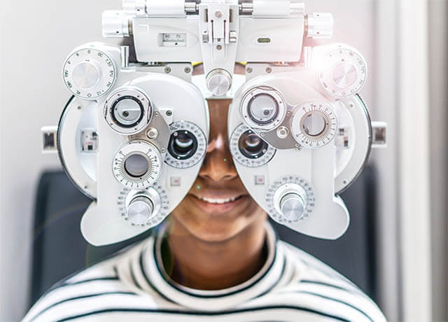 eye exam in Denison