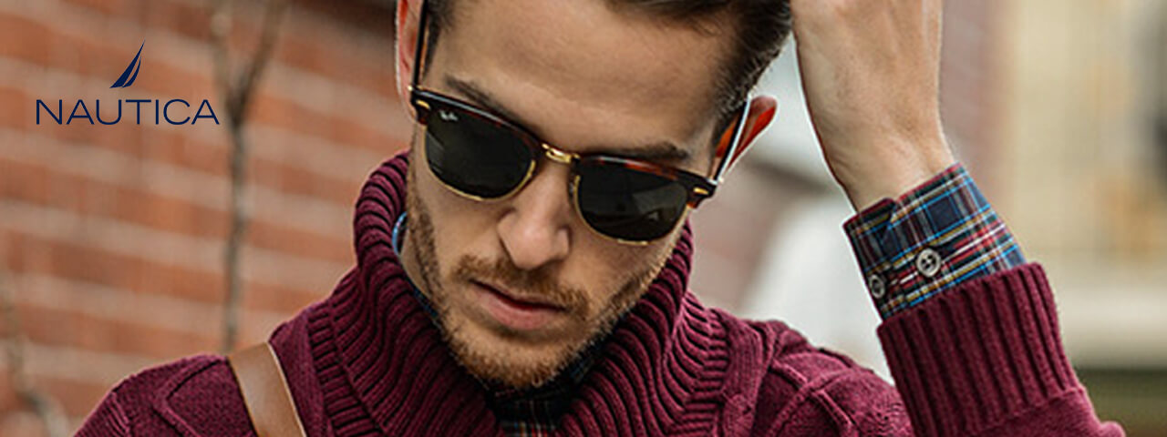 Model Wearing Nautica Sunglasses