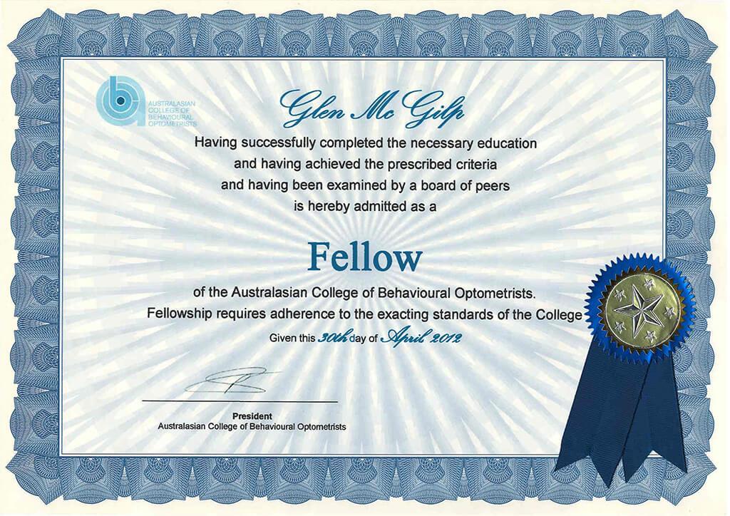 Fellowship certificate 01