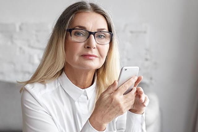 Senior Woman Attractive w Phone