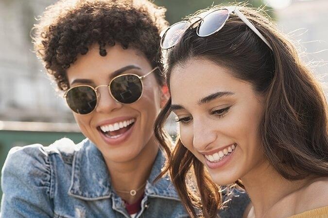 sunglasses thumbnail women laughing